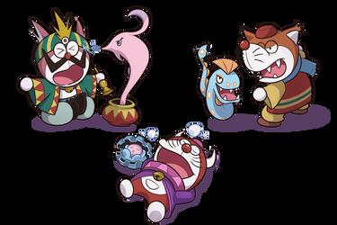 Doraemon x Pokemon by xOwleyex