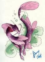 Purple Dragon Fish by wookieinmashoo