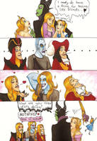 Maleficient and The Blonds by CarmenFoolHeart
