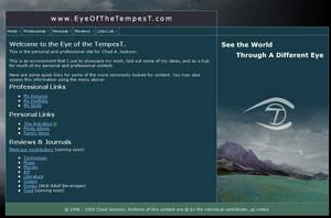 EyeOfTheTempest.com Web Design by ChadJackson