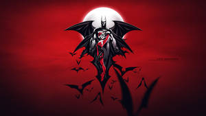 BATMAN-HARLEY- wallpaper red-1920x1080 by e-guerrero