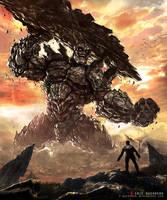 Rock Golem by e-guerrero