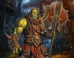 There is no honor in this! (Varok Saurfang) by Volendor