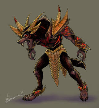 Werewolf Lord Daedric Armor Mod By Scyrel On Deviantart