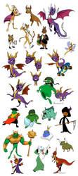 Spyro Collage by Scyrel