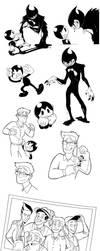 Bendy Doodles II by Scyrel