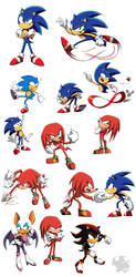Sonic and Knuckles by Scyrel
