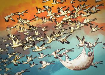 Ride the Storks by kodama-alternative