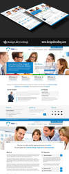 Corporate UI Website Design Layout PSD by designdecoding