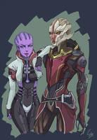 Aria and Nyreen by ShadeShark