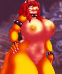 Beastly Bowsette - Nude by TehZee
