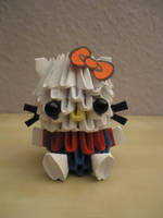 3D Origami - Hello Kitty 3 (w/ Bow) by Mixowelle