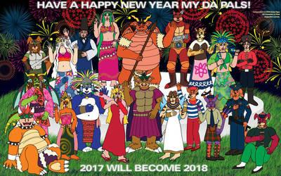 NYE Party 2017 - Me 'n' Friends by NobrisAgni