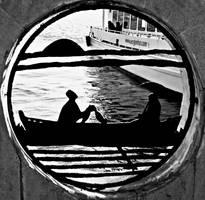 raft and ferry by ahmetkasim