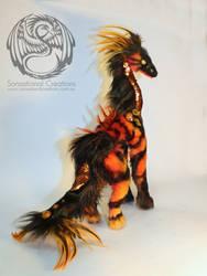 Inferno - Handmade Ooak poseable artdoll Qilin by SonsationalCreations