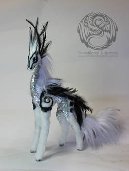 Void - Handmade Ooak poseable artdoll Qilin by SonsationalCreations