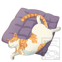Sleeping Cat Orange Tabby by Maygreen