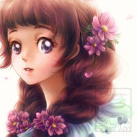 Braided Girl by Maygreen
