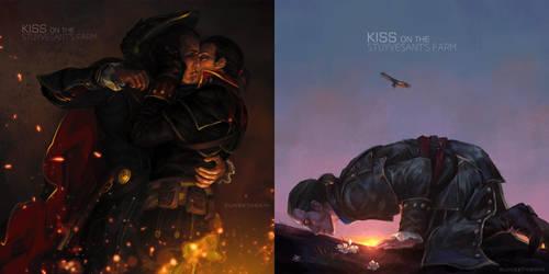 (yaoi/slash)Kiss on the Stuyvesant's Farm by sunsetagain