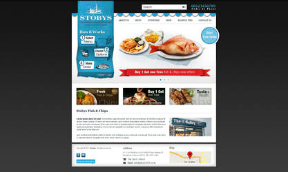 FIsh and Chips Blue by MAbeer
