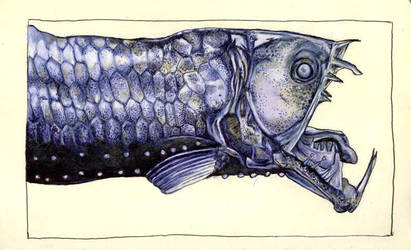 moleskine : viperfish by Cephalopodwaltz
