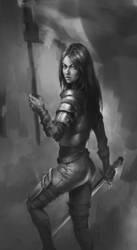 Woman warrior by Kitpashka