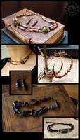 Junkmail jewelry by ZombieArmadillo