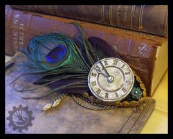 Clock face fascinator by ZombieArmadillo