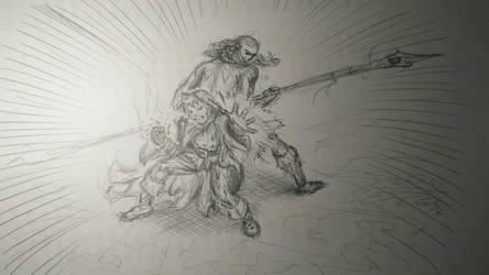 Aaredor fightin back by PaulTT