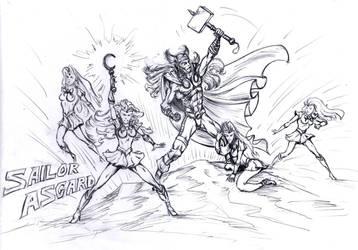 Sailor Asgard WIP by PaulTT