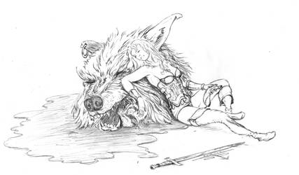 She beheaded a warg by PaulTT