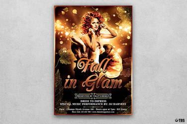 Fall in Glam Flyer Template V2 by Thats-Design