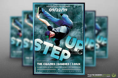 FREE Step Up Flyer Template by Thats-Design