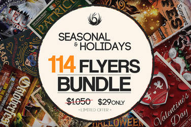 114 Seasonal And Holidays Flyers Bundle by Thats-Design