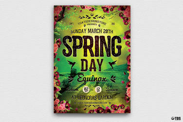 Spring Equinox Flyer Template V4 by Thats-Design