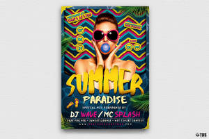 Summer Paradise Flyer Template by Thats-Design
