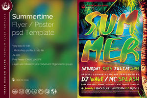 Summertime Flyer Template by Thats-Design