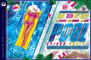 Pool Splash Party Flyer Template by Thats-Design