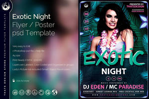 Exotic Night Flyer Template by Thats-Design