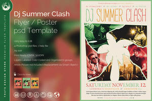DJ Summer Clash Flyer Template by Thats-Design