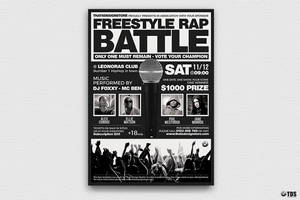 Freestyle Rap Battle Flyer Template V4 by Thats-Design