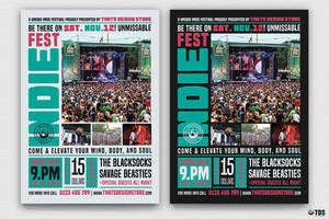 Indie Fest Flyer Template V2 by Thats-Design