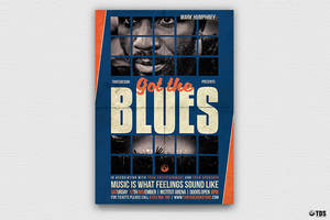 Got the Blues Flyer Template by Thats-Design