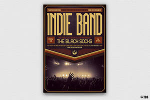 Indie Band Flyer Template V4 by Thats-Design