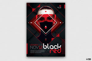 Black and Red Flyer Template V4 by Thats-Design