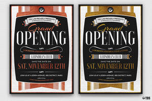 Grand Opening Flyer Template by Thats-Design
