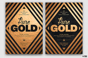 Minimal Black And Gold Flyer Template V6 by Thats-Design