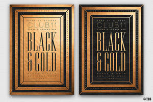 Minimal Black And Gold Flyer Template V7 by Thats-Design