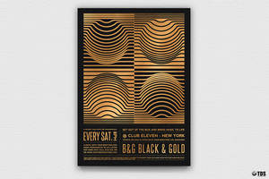 Minimal Black and Gold Flyer Template V8 by Thats-Design