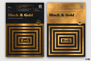 Minimal Black and Gold Flyer Template V9 by Thats-Design